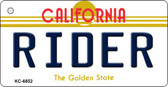 Rider California State License Plate Wholesale Key Chain