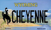 Cheyenne Wyoming State License Plate Wholesale Magnet