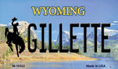 Gilletle Wyoming State License Plate Wholesale Magnet