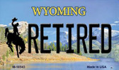 Retired Wyoming State License Plate Wholesale Magnet M-10543