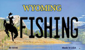 Fishing Wyoming State License Plate Wholesale Magnet