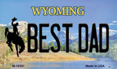 Best Dad Wyoming State License Plate Wholesale Magnet