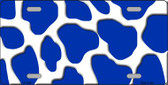 Blue White Giraffe Print Wholesale Metal Novelty License Plate LP-2942