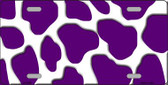Purple White Giraffe Print Wholesale Metal Novelty License Plate LP-2944