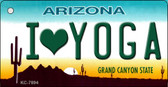 I Love Yoga Arizona State License Plate Wholesale Key Chain