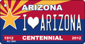 I Love Arizona Arizona Centennial State License Plate Wholesale Key Chain