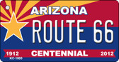 Route 66 Arizona Centennial State License Plate Wholesale Key Chain