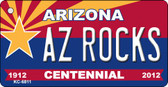 AZ Rocks Arizona Centennial State License Plate Wholesale Key Chain