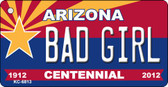 Bad Girl Arizona Centennial State License Plate Wholesale Key Chain