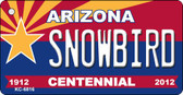 Snowbird Arizona Centennial State License Plate Wholesale Key Chain