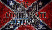 Sons Of Confederate Veterans Novelty Wholesale Magnet M-8100