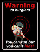 Warning To Burglars Novelty Wholesale Parking Sign