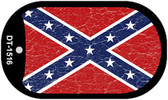 Confederate Flag Distressed Dog Tag Kit Wholesale Novelty Necklace DT-1516