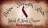 Head & Neck Cancer Ribbon Wholesale Novelty Magnet M- 8308