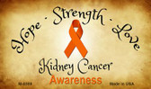 Kidney Cancer Ribbon Wholesale Novelty Magnet M-8309