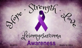 Leiomyosarcoma Cancer Ribbon Wholesale Novelty Magnet M-8310