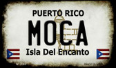 Moca Puerto Rico State License Plate Wholesale Magnet
