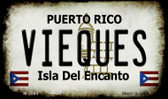 Vieques Puerto Rico State License Plate Wholesale Magnet M-2884