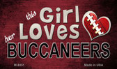 This Girl Loves Her Buccaneers Wholesale Magnet M-8051