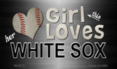 This Girl Loves Her White Sox Wholesale Magnet M-8070