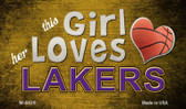 This Girl Loves Her Lakers Wholesale Magnet M-8429