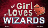 This Girl Loves Her Wizards Wholesale Magnet M-8445