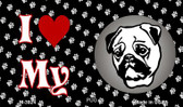 I Love My Pug Wholesale Magnet M-3924