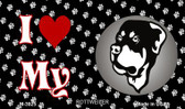 I Love My Rottweiler Wholesale Magnet M-3925