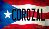 Corozal Puerto Rico State Flag Wholesale Magnet M-11338