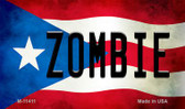 Zombie Puerto Rico State Flag Wholesale Magnet M-11411