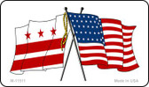Washington DC Crossed US Flag Wholesale Magnet M-11511