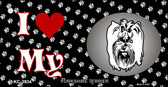 I Love My Yorkshire Terrier Wholesale Key Chain KC-3934