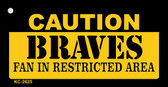 Caution Braves Fan Area Wholesale Key Chain KC-2625