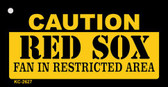 Caution Red Sox Fan Area Wholesale Key Chain
