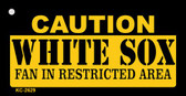 Caution White Sox Fan Area Wholesale Key Chain