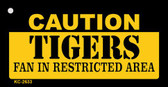 Caution Tigers Fan Area Wholesale Key Chain