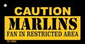 Caution Marlins Fan Area Wholesale Key Chain