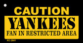 Caution Yankees Fan Area Wholesale Key Chain