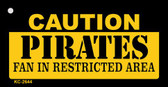 Caution Pirates Fan Area Wholesale Key Chain
