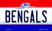 Bengals Ohio State License Plate Wholesale Magnet M-2055