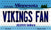 Vikings Fan Minnesota State License Plate Wholesale Magnet M-10768