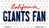 Giants Fan California State License Plate Wholesale Magnet M-10812