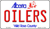 Oilers Alberta State License Plate Wholesale Magnet M-2066