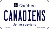 Canadiens Quebec State License Plate Wholesale Magnet M-2070