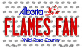 Flames Fan Alberta State License Plate Wholesale Magnet M-10818
