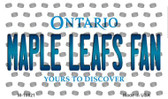 Maple Leafs Fan Ontario State License Plate Wholesale Magnet M-10821