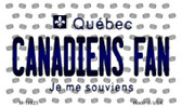 Canadiens Fan Quebec State License Plate Wholesale Magnet M-10823