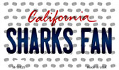 Sharks Fan California State License Plate Wholesale Magnet M-10825