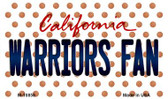 Warriors Fan California State License Plate Wholesale Magnet M-10856