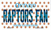 Raptors Fan Ontario State License Plate Wholesale Magnet M-10875